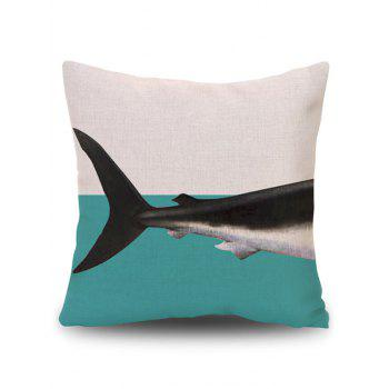 Cushion Pillow Case Cover with Dolphin Print - BEIGE PATTERN B