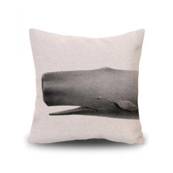 Shark Sofa Decorative Throw Linen Pillow Cover - BEIGE PATTERN B