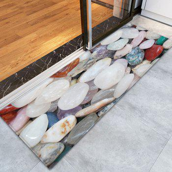 Pebble Stone Pattern Indoor Outdoor Floor Rug - COLORMIX W24 INCH * L71 INCH