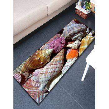 Bathroom Skidproof Flannel Conch Rug - COLORMIX COLORMIX