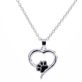 Claw Heart Hollow Out Pendant Necklace