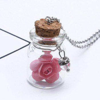 Glow in the dark Glass Flower Necklace