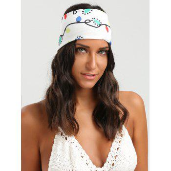 Wide Cartoon Colored Lights Headband