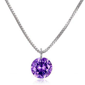 Artificial Diamond Pendant Necklace