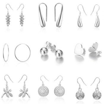 Different Design 9Pairs Drop Earrings Set