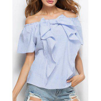 Off The Shoulder Bowknot Convertible Blouse