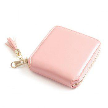 Zip Around Tassel Small Wallet - PINK PINK