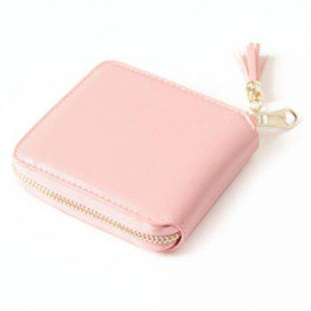 Zip Around Tassel Small Wallet -  PINK