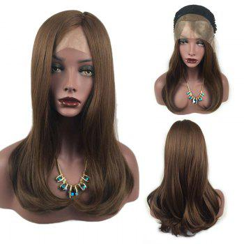 Long Side Part Tail Adduction Straight Synthetic Lace Front Wig