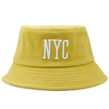 Letters Embroidered Sunscreen Fisherman Cap