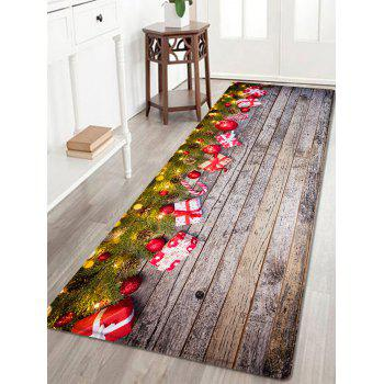 Wood Christmas Gift Pattern Indoor Outdoor Area Rug