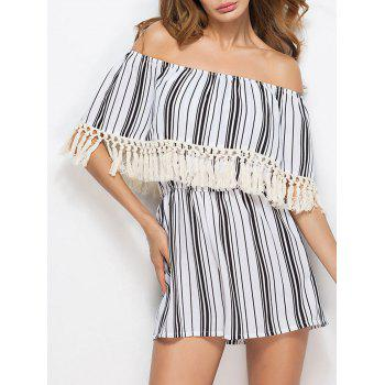 Off The Shoulder Tassels Romper
