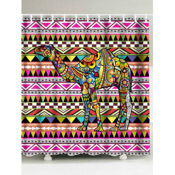 Foral Camel Geometric Waterproof Shower Curtain