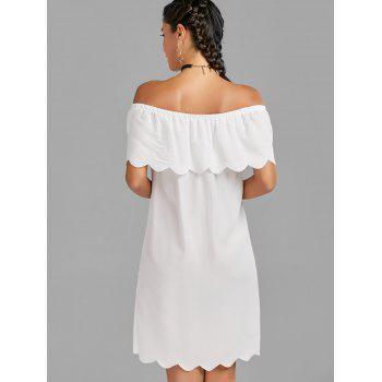 Off The Shoulder Scalloped Dress - L L