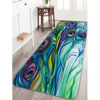 Feather Peacock Skidproof Bath Rug