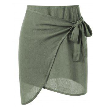 Tie Side Overlap Skirt