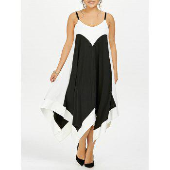 Plus Size Two Tone Handkerchief Slip Dress