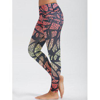 High Waist Pattern Funky Gym Leggings