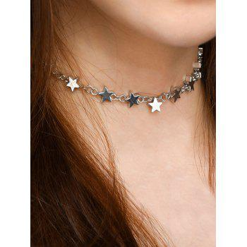 Copper Alloy Star Collarbone Necklace