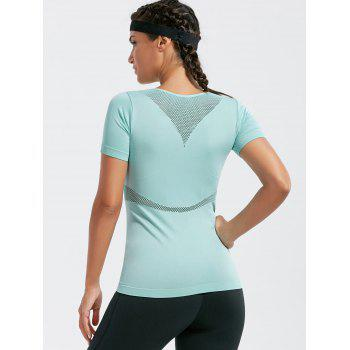 Mesh Openwork Breathable Fitness T-shirt - L L