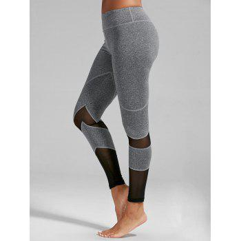 High Rise Mesh Insert Fitness Leggings