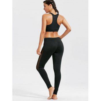 Sheer Mash Sports Bra and Workout Leggings Set - S S