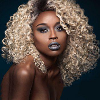 Adiors Medium Oblique Bang Shaggy Afro Curly Colormix Synthetic Wig