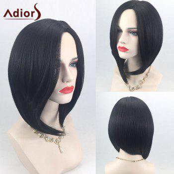 Adiors Side Parting High Low Short Straight Bob Synthetic Wig