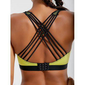 Padded Criss Cross Strappy Sports Bra
