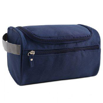 Nylon Toiletry Bag with Hook - CADETBLUE