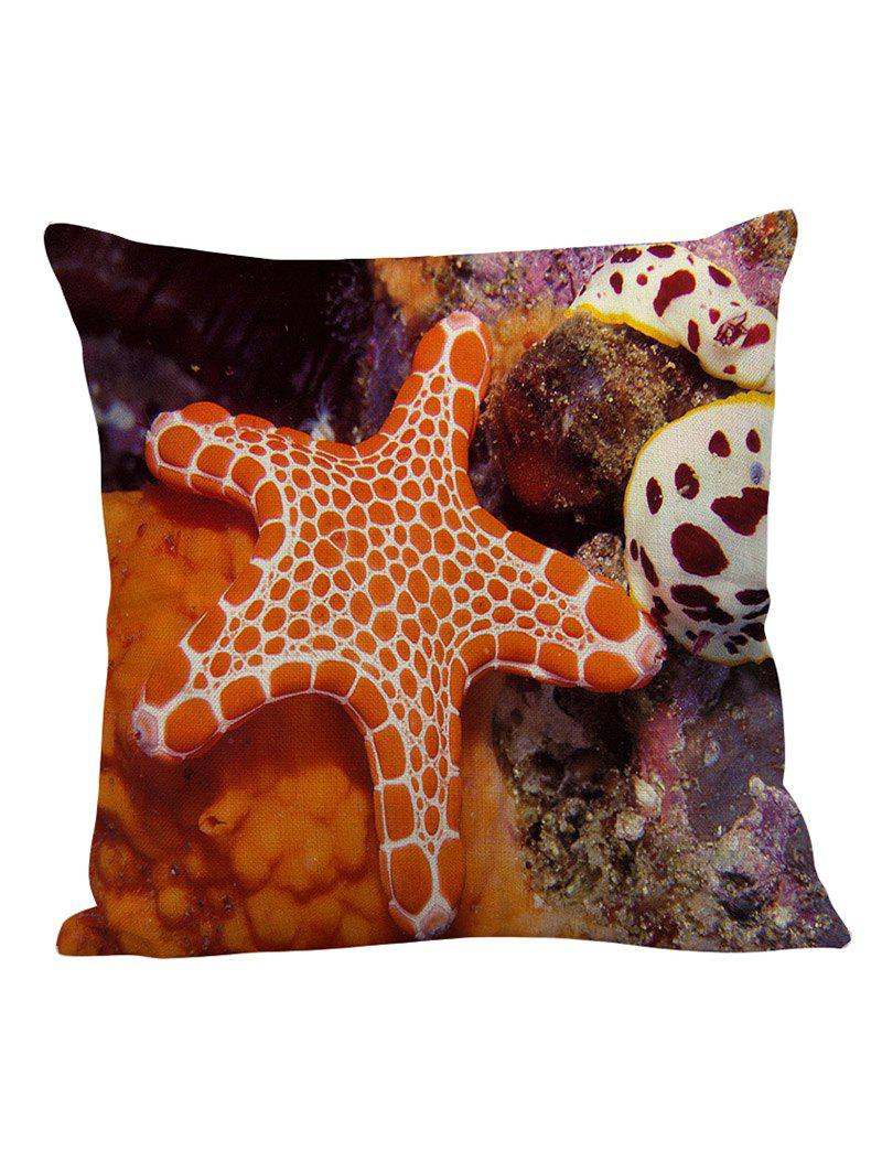 Starfish Linen Pillow Case - ORANGE 45*45CM