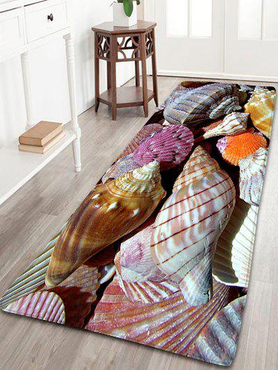 Bathroom Skidproof Flannel Conch Rug - COLORMIX W16 INCH * L47 INCH