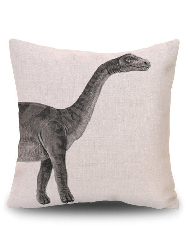 Dinosaur Animal Linen Home Decor Pillowcase - BEIGE PATTERN B