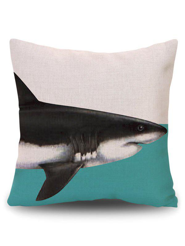 Cushion Pillow Case Cover with Dolphin Print - BEIGE PATTERN A