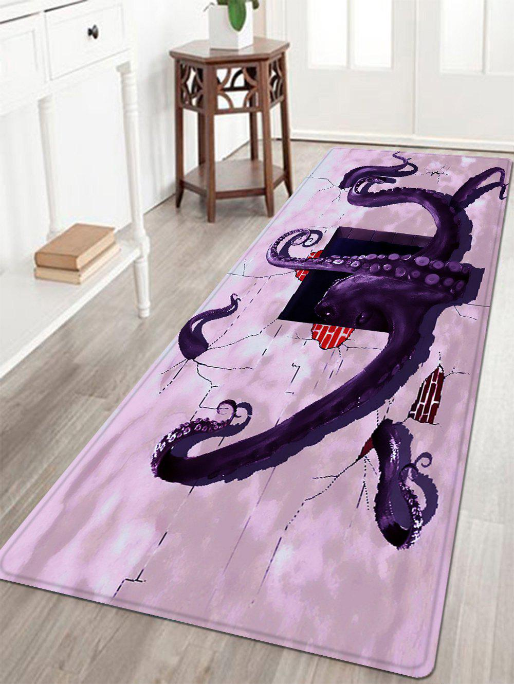 3D Octopus Pattern Indoor Outdoor Area Rug - PURPLE W24 INCH * L71 INCH