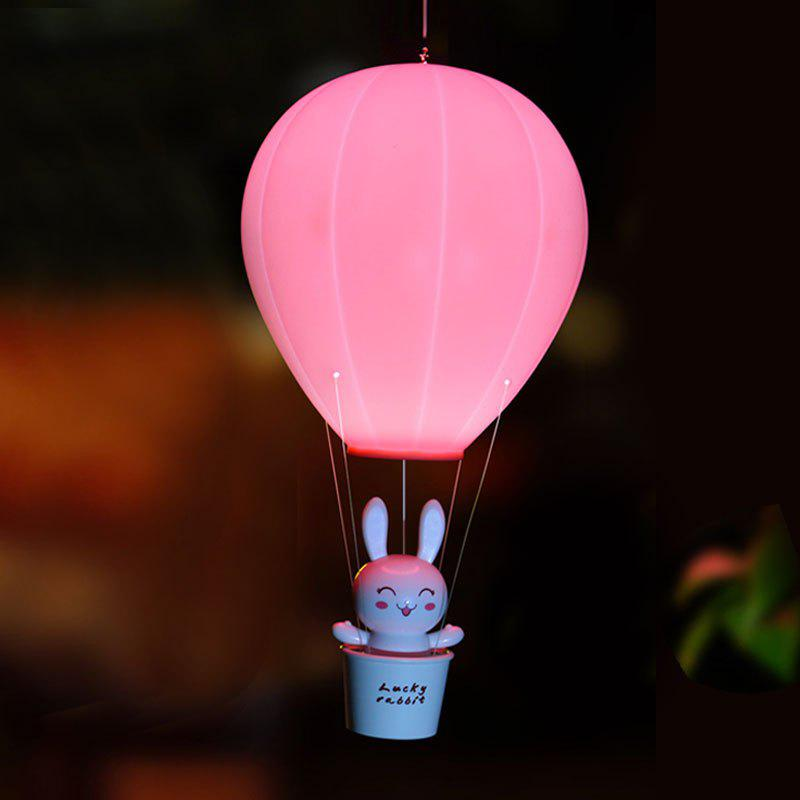 Télécommande Hot Air Balloon USB Charging Night Light - ROSE PÂLE