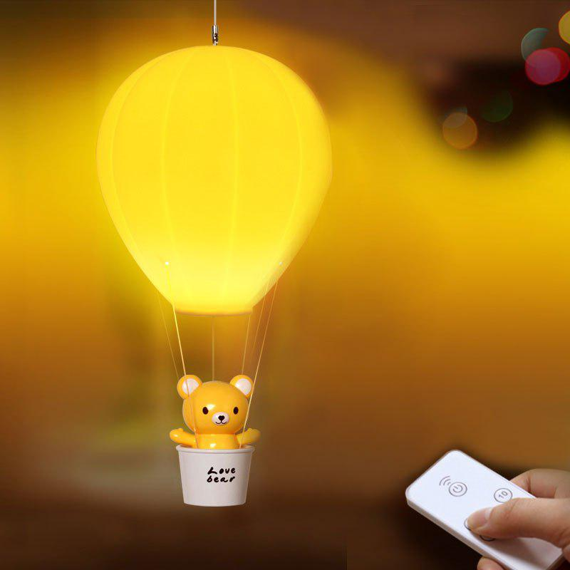 Remote Control Hot Air Balloon USB Charging Night Light - YELLOW