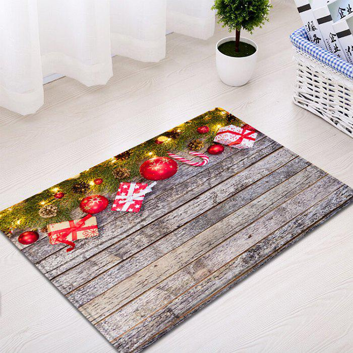 3d Christmas Dining Room Rubber Carpet Soft Area Rug: Wood Christmas Gift Pattern Indoor Outdoor Area Rug