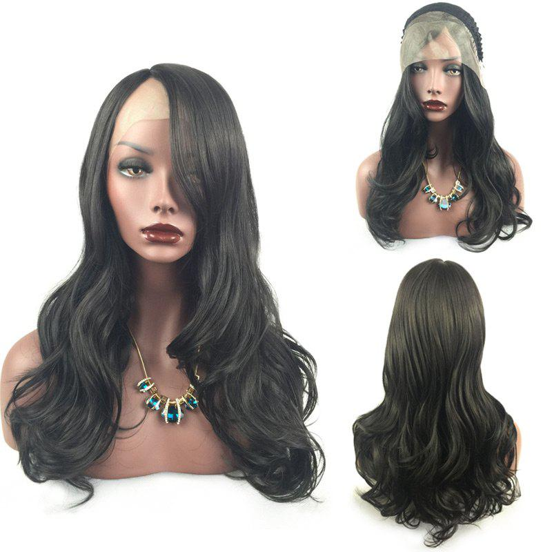 Long Side Part Layered Wavy Synthetic Lace Front Wig