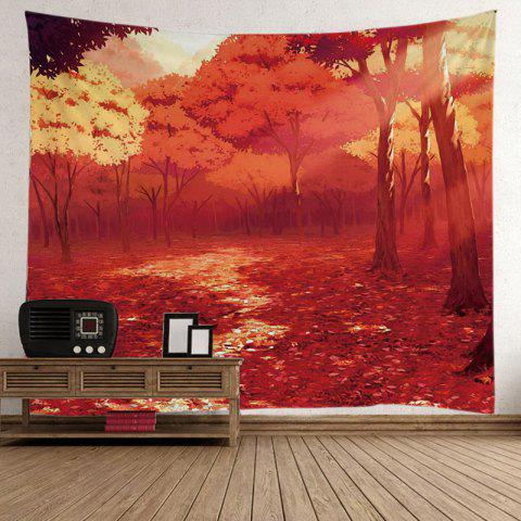 Nature Forest Autumn Road Foliage Tapestry - Eau Rouge W51 INCH * L59 INCH