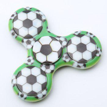 Plastic Tri-bar Soccer Patterned Fidget Spinner - FERN FERN