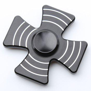 Cross Shape Quad-bar Fidget Metal Spinner - BLACK