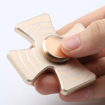 Cross Shape Quad-bar Fidget Metal Spinner - Or