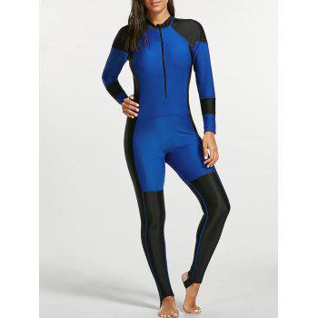 One Piece Two Tone Long Sleeve Diving Suit
