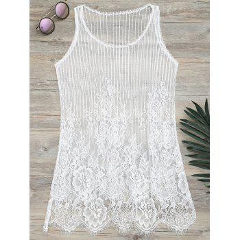 Lace See-Through Cover Up Tank Top