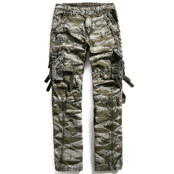 Zipper Fly Multi Pockets Cargo Pants