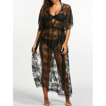 See-Through Lace Maxi Cover Up Dress