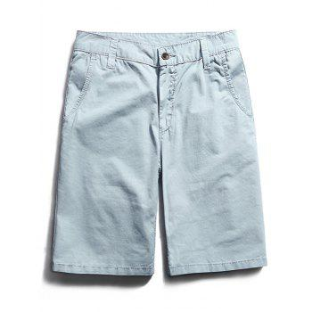 Zipper Fly Pocket Chino Shorts