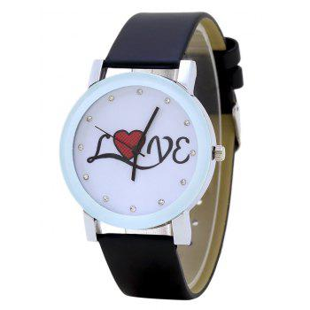 Rhinestone Love Analog Watch
