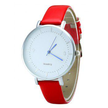 PU Leather Strap Quartz Watch